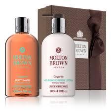 gingerlily body wash lotion gift set
