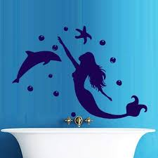 Mermaid Tail Star Fish Cool Girl Kids Bedroom Wall Art Stickers Decal Vinyl Room Children S Bedroom Girl Decor Decals Stickers Vinyl Art