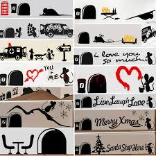 Lovely Funny Mouse Mice Rat Car Bedroom Wall Door Vinyl Sticker Decal Xmas Gift Ebay