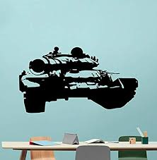 Amazon Com Tank Wall Decal Military Panzer War Battle Car Vehicle Us Army Force Stencil Poster Vinyl Sticker Cool Movie Wall Art Kids Teen Room Bedroom Wall Decor Mural 5ss Home Kitchen