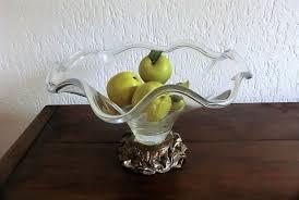 large glass fruit bowl decorative