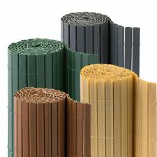 Pvc Fence Screen Bamboo Mat Border Panel Garden Wall Privacy Sizes Colours Ebay