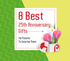 25th anniversary gifts for pas