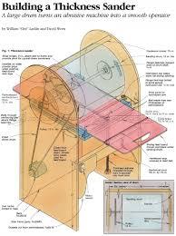 thickness sander plans woodarchivist