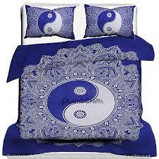 bohemian blue yin yang bedding sets
