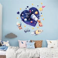 Cartoon Love Universe Dog Star Wall Sticke Kids Rooms Bathroom Toilet Home Decor Sale Price Reviews Gearbest