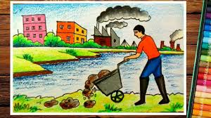 pollution drawing compeion how to