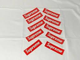 Supreme Vinyl Decal Sticker Lot 10pc Red Supreme Stickers 7 00 Picclick
