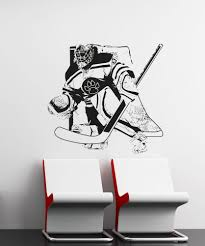 Vinyl Wall Decal Sticker Hockey Goalie 5090 Stickerbrand