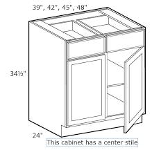 cambria saddle 42 base cabinet