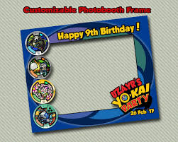 Yokai Watch Photobooth Marco Invitaciones Digitales Cumpleanos