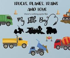 Boys Trucks N Quote Wall Decals Vinyl Boys Room Wall Sticker Decor