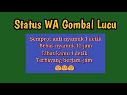 status wa gombal lucu