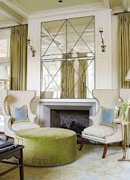 decorate large wall over fireplace