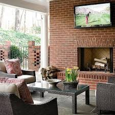 covered deck with fireplace design ideas