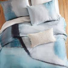 sateen colorscape blue black bedding