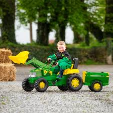 john deere large tractor trailer and