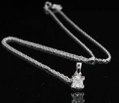 princess cut diamond pendant in a 4