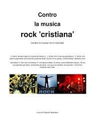 Contro la musica rock 'cristiana' by Illuminato Butindaro - issuu