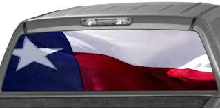 Amazon Com Motorink Texas Flag Rear Window Graphic Decal Tint Sticker Truck Suv Ute Automotive