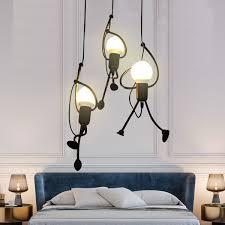 Unique Pendant Light Fixture Hanging Lamp Creative Small Metal Black Chandelier Lighting Adjustable Hanging Light Fixtures For Kids Room Bedroom Dining Room Walmart Com Walmart Com