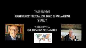 Referendum sul taglio dei parlamentari - intervista doppia agli esperti:  Fusaro (Sì) e Armaroli (No)