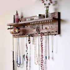 wall mounted necklace holder