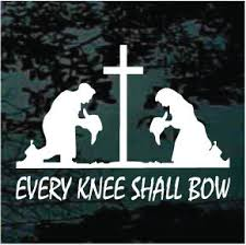 Cowboy Cowgirl Every Knee Shall Bow Decal Window Sticker