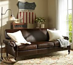 brooklyn leather sofa pottery barn