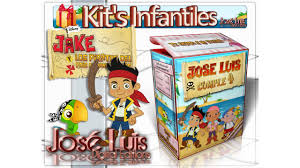 Kit Imprimible Invitaciones Banderines Cajitas Fiesta De Jake Y