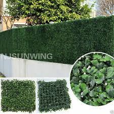 Artificial Hedge Fence Panel Turf Plant Greenery Custom Sizing Lowest Cost Ebay