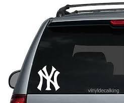 Yankees Vinyl Sticker Decal New York Ny Baseball Window Car Decor Decals Stickers Vinyl Art Home Garden