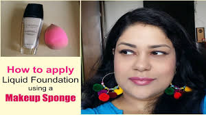 apply foundation with a makeup sponge