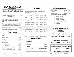 Seafood Market & Sandwich Shop Menu ...