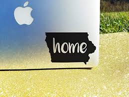 Amazon Com Celycasy Iowa Home State Decal Car Vinyl Decal Decal Sticker For Laptop Macbook Ipad Car Window Ia Pride Die Cut Decal Kitchen Dining
