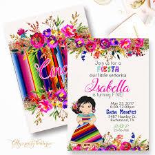 Fiesta Birthday Invitation Mexican Fiesta Birthday Invitation