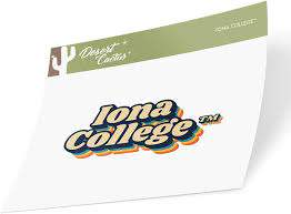 Amazon Com Iona College Gaels Ncaa Vinyl Decal Laptop Water Bottle Car Scrapbook 70 S Name Sticker Sports Outdoors