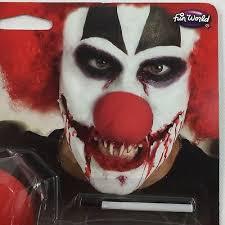 creepy clown makeup kit red