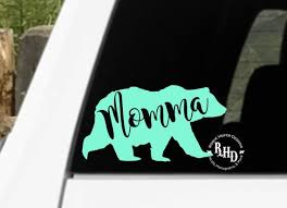 Momma Bear Mama Bear Papa Bear Decal Tribal Bare Decal Yeti Car Decal Mom Life Bear Decal Mama Bear Papa Bear Momma Bear