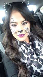 cat face with makeup for