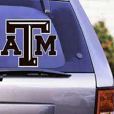 Texas A M Large Chiseled Vinyl Decal Maroon White Aggieland Outfitters