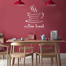 Creative Coffee Break Wall Sticker Living Room Bedroom Cafe Decoration Mural Art Decals Wallpaper Home Decor Stickers Leather Bag