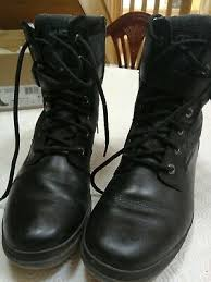 kesey black leather lace up ankle boots