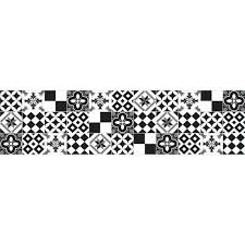 Home Decor Line Black And White Azulejos Peel And Stick Backsplash Wall Decal Cr 67312 The Home Depot