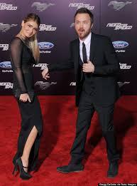 Lauren Parsekian Wears Sheer Dress To Aaron Paul's 'Need For Speed'  Premiere   HuffPost
