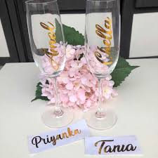 Custom Name Vinyl Decal For Wine Glass Personalized Wine Glass Decal Wedding Party 4cm In Height Party Diy Decorations Aliexpress