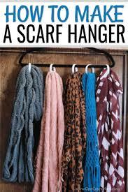 diy scarf organizer how to make a