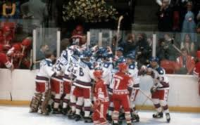 Image result for the U.S. hockey team, a massive underdog, defeats the Soviet team at the Olympic Winter Games in Lake Placid, New York,