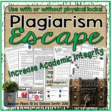 Plagiarism Escape Room / Lock Box by Selena Smith | TpT