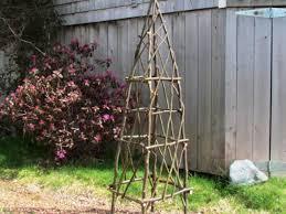 rustic garden obelisks